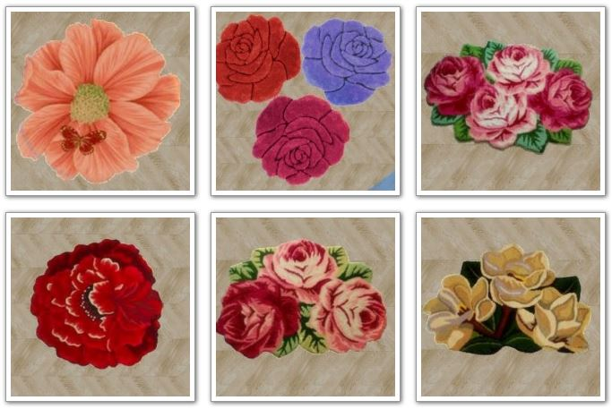 12 new small Flower Rugs at Amberlyn Designs