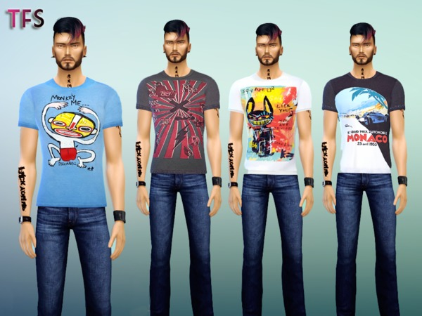 Printed T-Shirts by TwistedFate Sims
