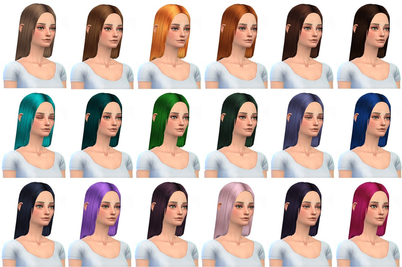 Hair retexture 36 colors by Miss Paraply