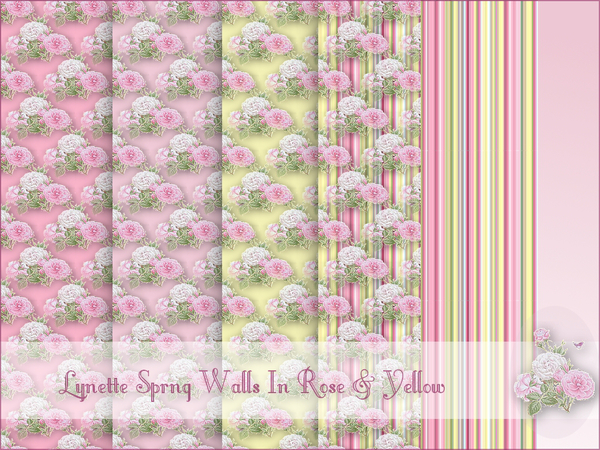 Lynette Spring Rose Walls in Yellow & Pink DV by cm_11778
