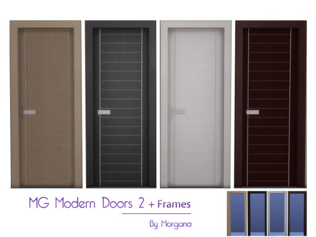 MG Modern Doors 2 + Frames by morgana14