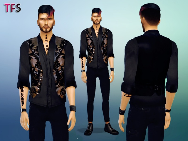 Baroque Vest and Shirt by TwistedFate Sims