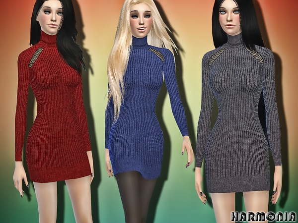 Cool Look Wool Sweater Dress by Harmonia