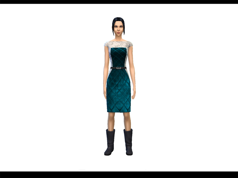 Leather and Lace Pencil Dress BY drea1219