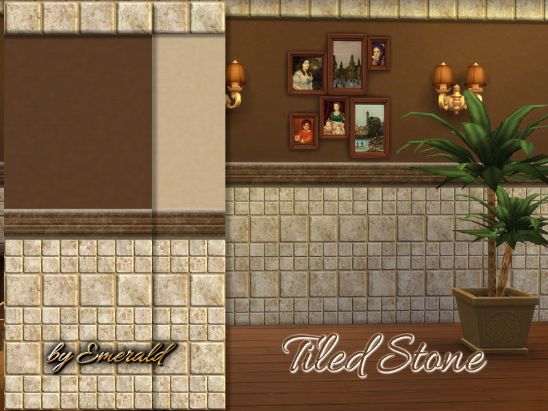 Tiled Stone wall BY emerald