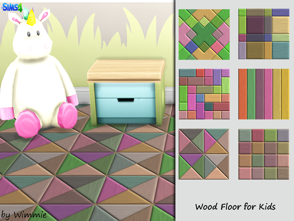 Wood Floor for Kids at Just For Your Sims