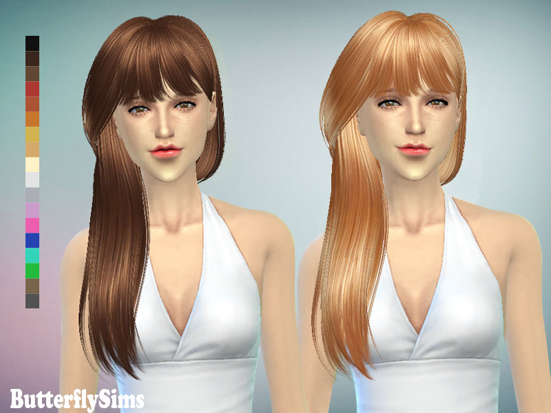 Hairstyle 132 by ButterflySims