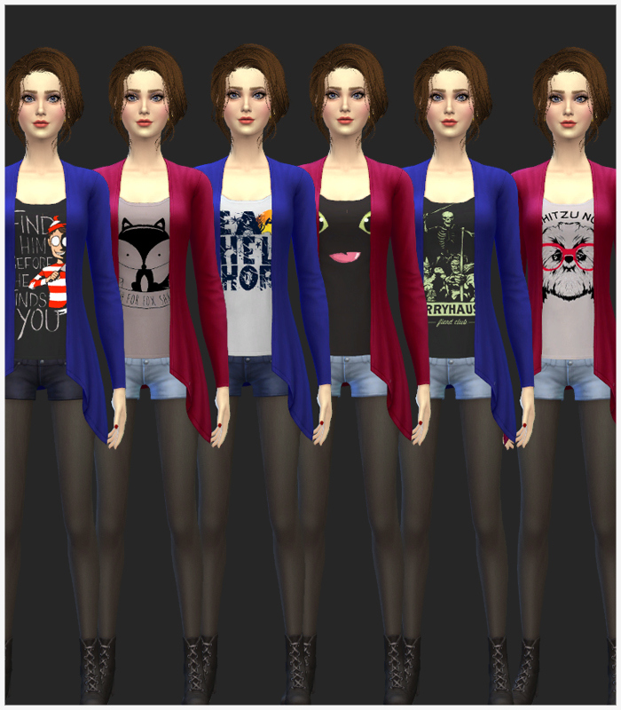 Drape Cardigan Recolors for Teen - Elder Females by Mr S