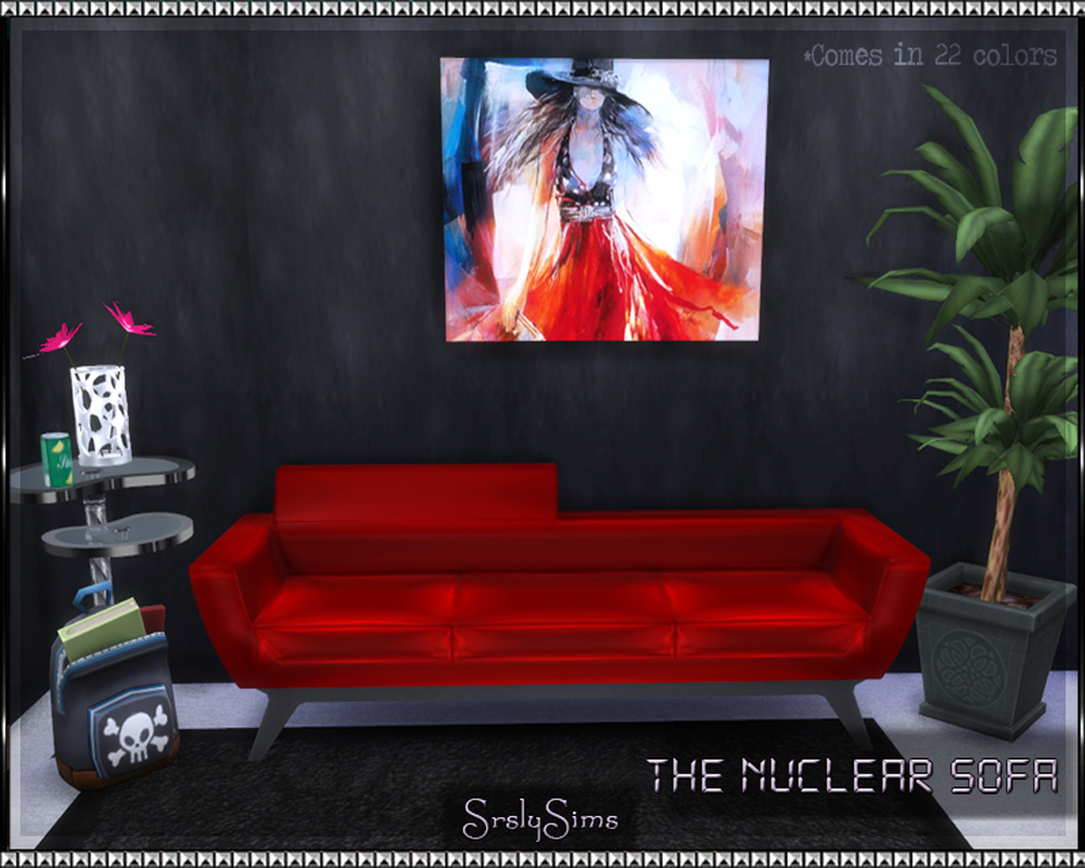 The Nuclear Sofa by SrslySims