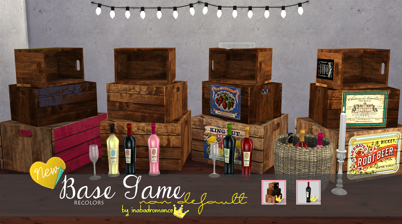 Wine & Misc Clutter Recolors by Inabadromance