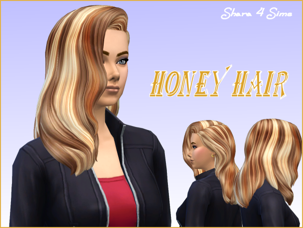 Honey Hair at Shara 4 Sims