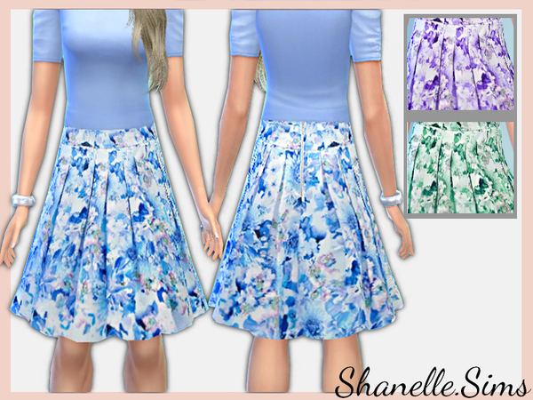 Floral print Midi Skirt by shanelle.sims