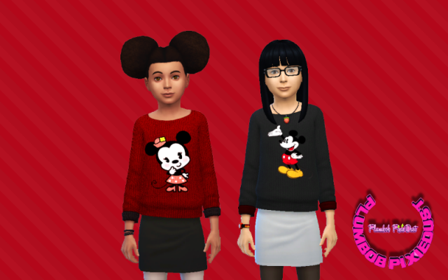 Mickey & Minnie Sweaters for Girls by PlumbobPixiedust