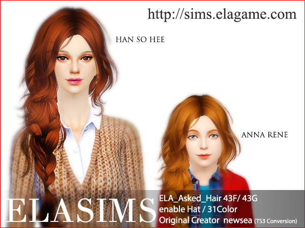 Sims 4 Request Hair 42F / G by Elasims