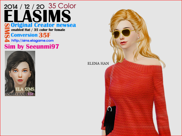 Sims 4 Asked Hair 35F by Elasims