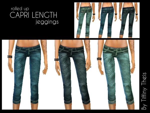 Capri Length Jeggings by tiffybee