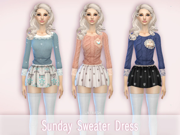 Sunday Sweater Dress by UKTRASH