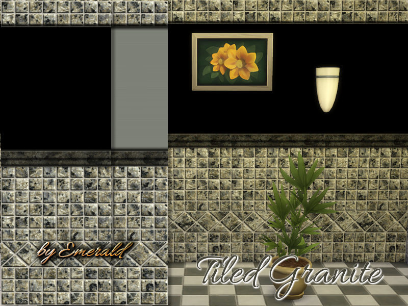 Tiled Granite wall! BY emerald