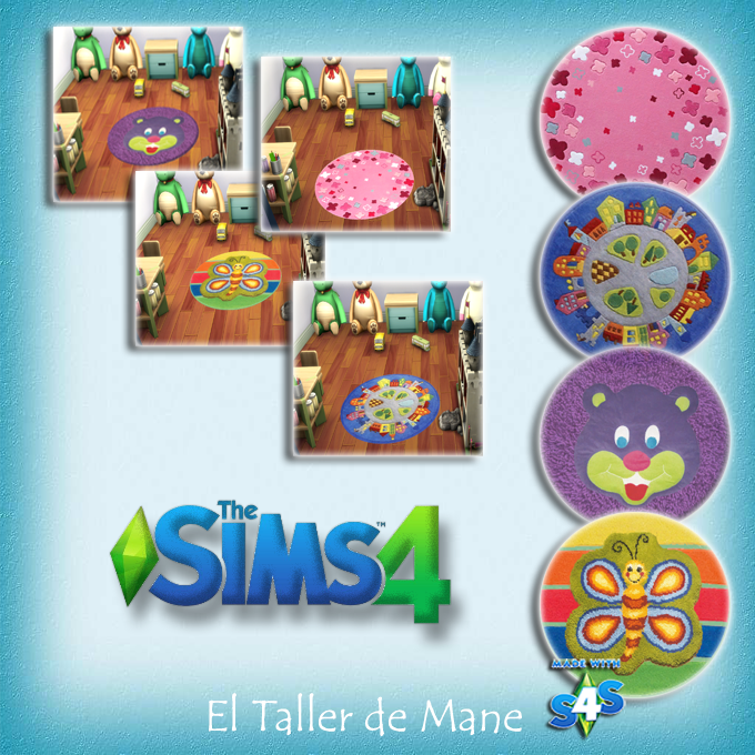 Round rugs for kids at El Taller de Mane