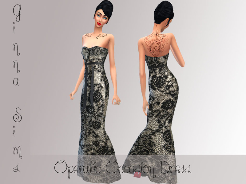 Operatic Occasion Dress BY ginna.wilson