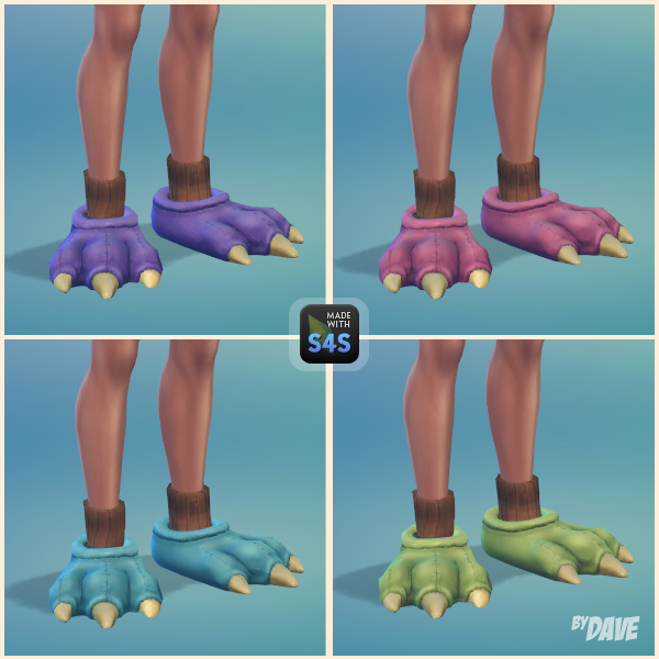 Kid's Slippers for Adult Males by TheSimGuys