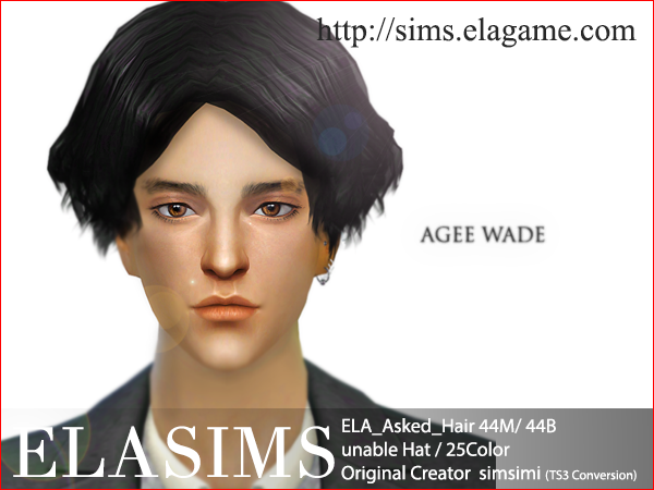 Sims 4 Request Hair 44M / B by Elasims