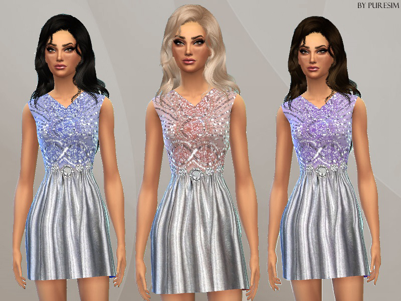 Embellished Pastel Dress BY Puresim