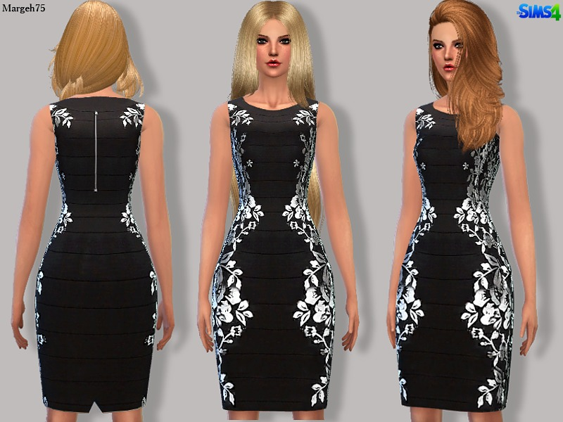 Sims 4 Bacconi Dress  BY Margeh-75