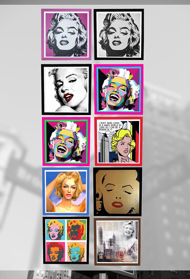 Marilyn Monroe posters at Splay