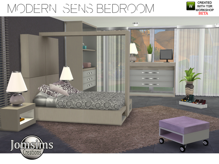 Modern Sens bedroom by Jomsims