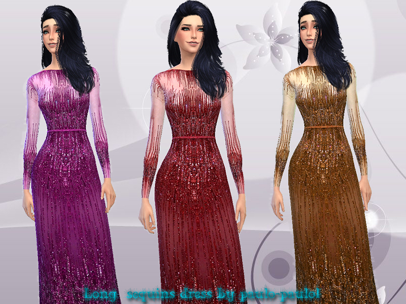 Long sequins dress BY paulo-paulol