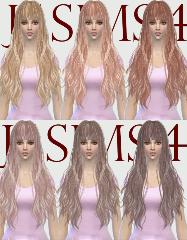 B-flysims Hair 049 Retexture by JS SIMS