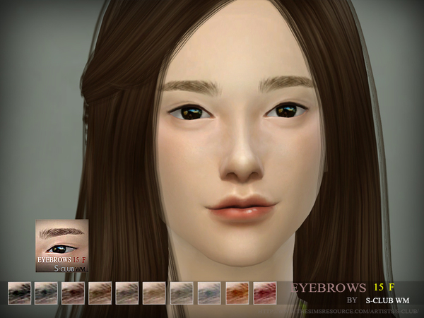 S-Club WM thesims4 Eyebrows 15 F