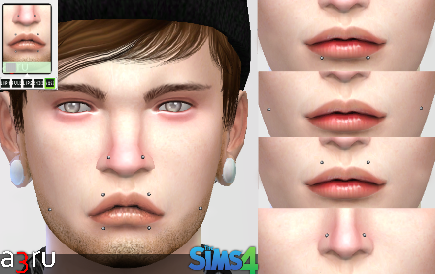 Double Piercings Set for Males & Females by A3ru