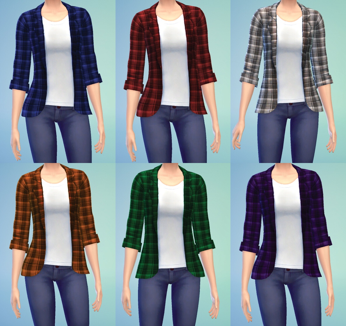 Unbuttoned Plaid Shirts for Teen - Elder Females by Jaylo2112