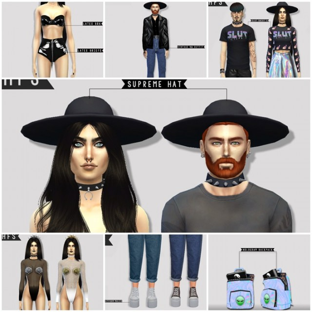 NIGHT WORK COLLECTION by Hautfashionsims4