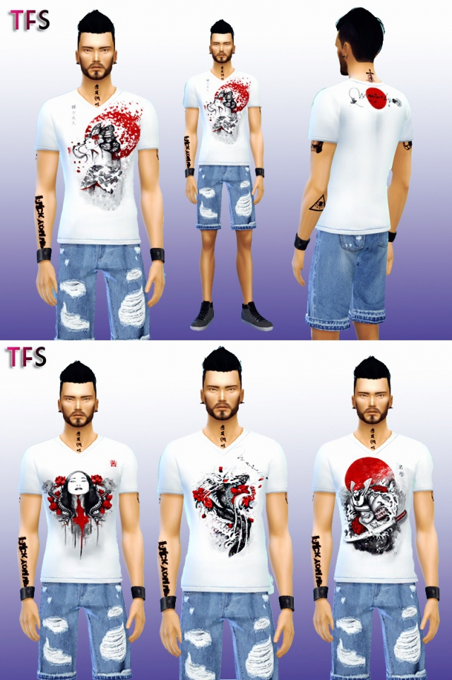 Japanese Shirts Collection by TwistedFate Sims