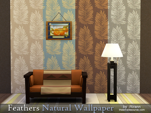 Feathers Natural Wallpaper by Rirann