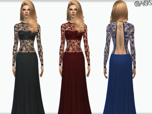 Long Sleeve Lace Dress by OranosTR