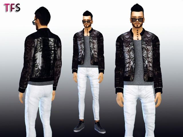 McQueen Black Jacket by TwistedFate Sims
