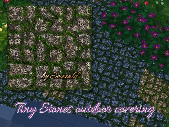 Tiny Stones outdoor covering by emerald