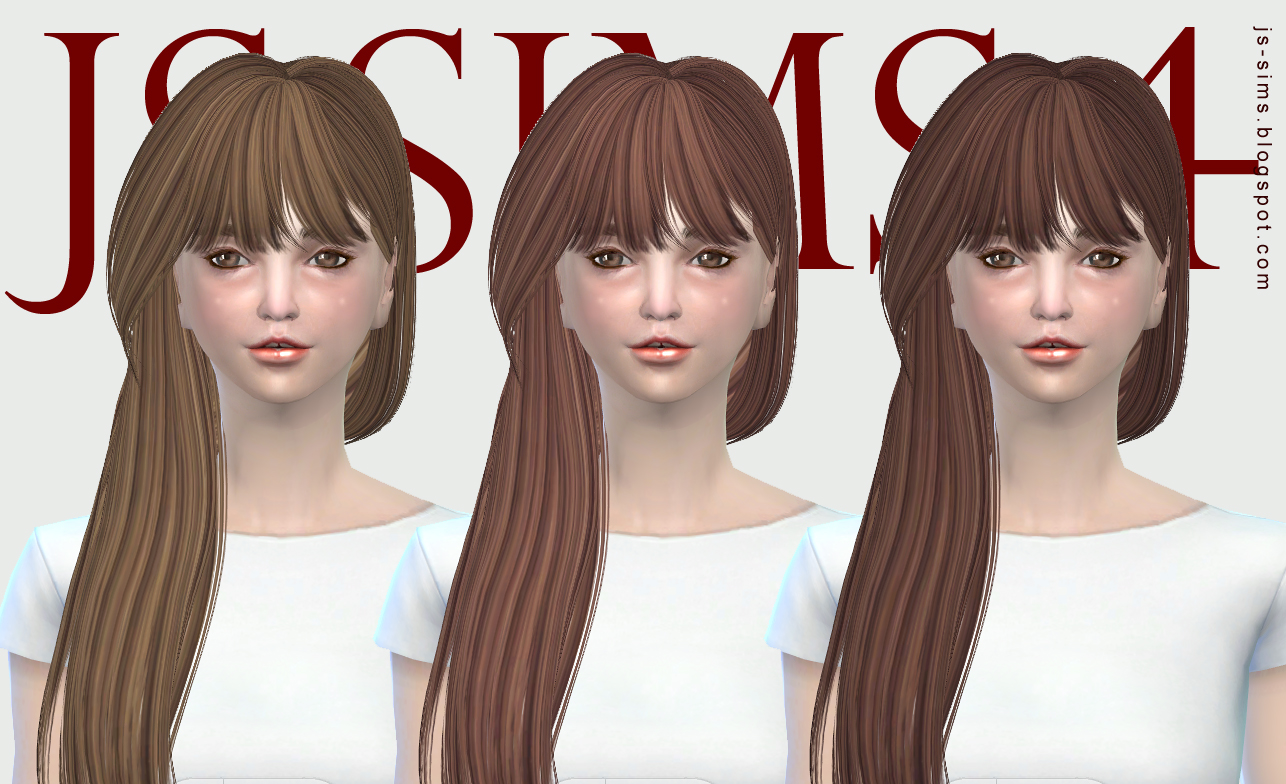 B-flysims Hair132 Retexture by JS SIMS