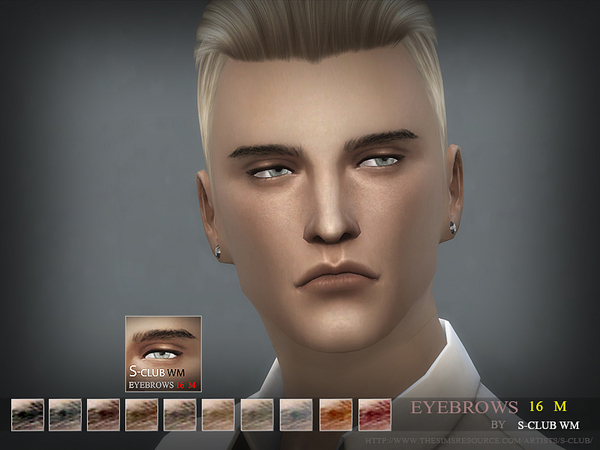 S-Club WM thesims4 Eyebrows16 M