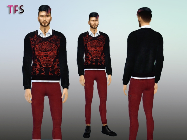 Skull Sweaters by TwistedFate Sims