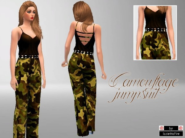Camouflage jumpsuit by IzzieMcFire
