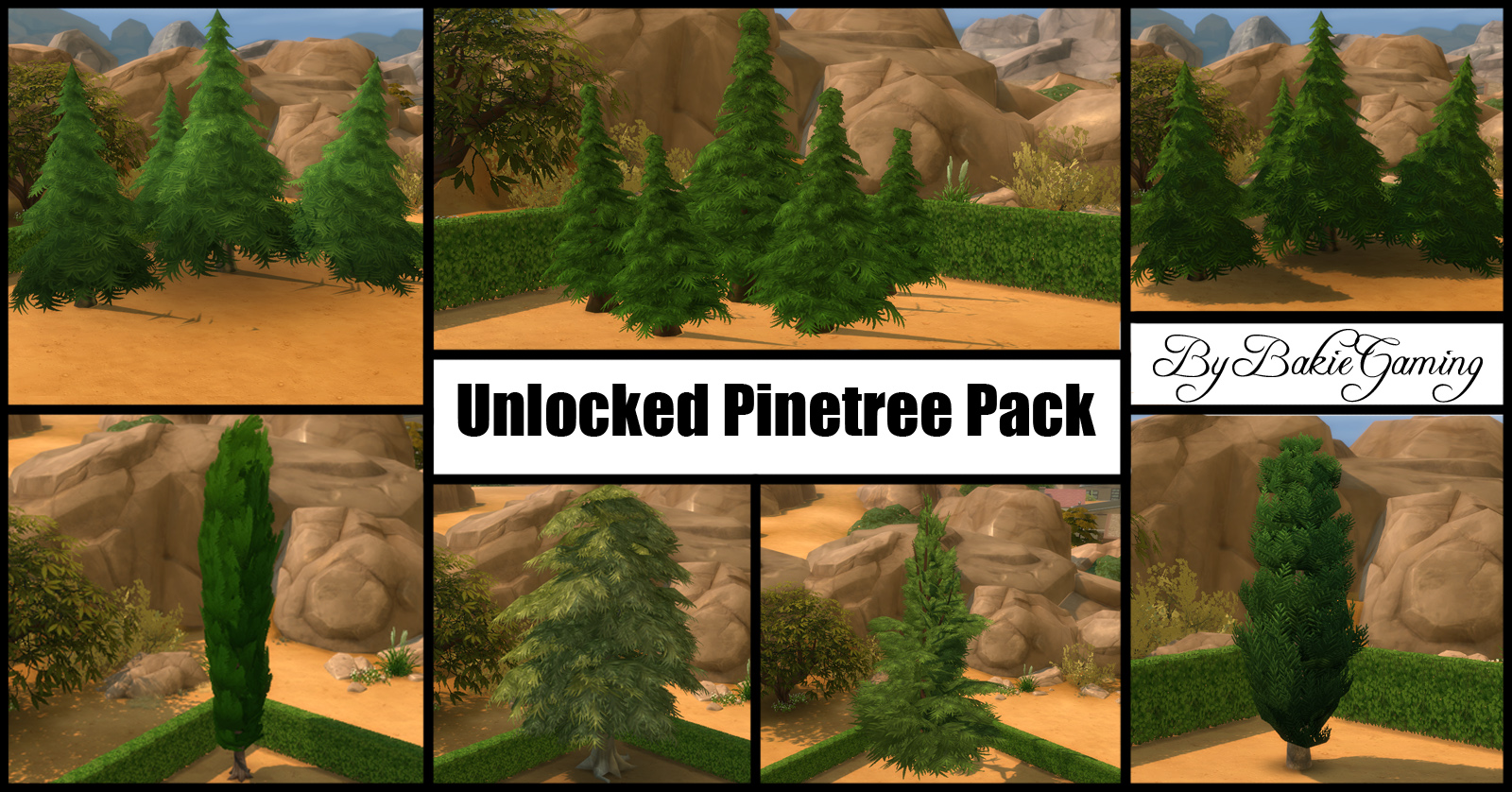 Unlocked Pinetree Pack (7 new trees) by Bakie