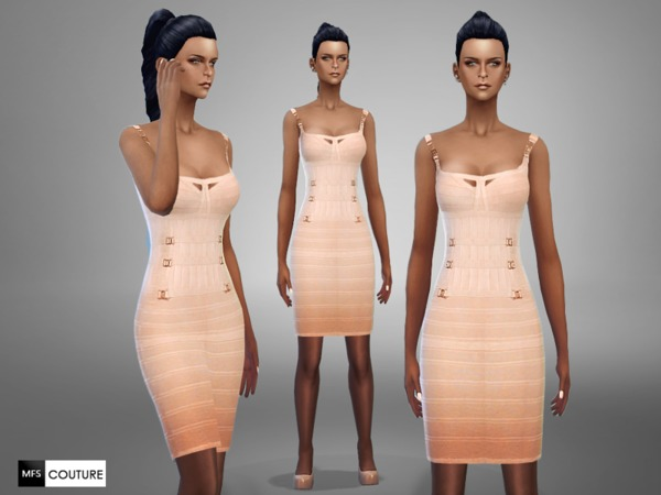 MFS Salmon Pencil Dress by MissFortune