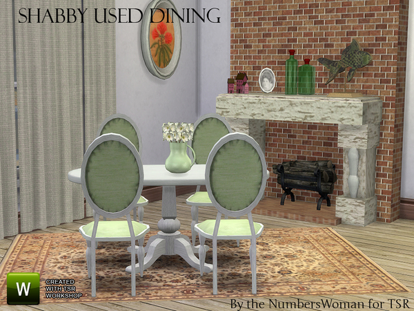 Shabby Bargain Shabby Chic Dining by TheNumbersWoman