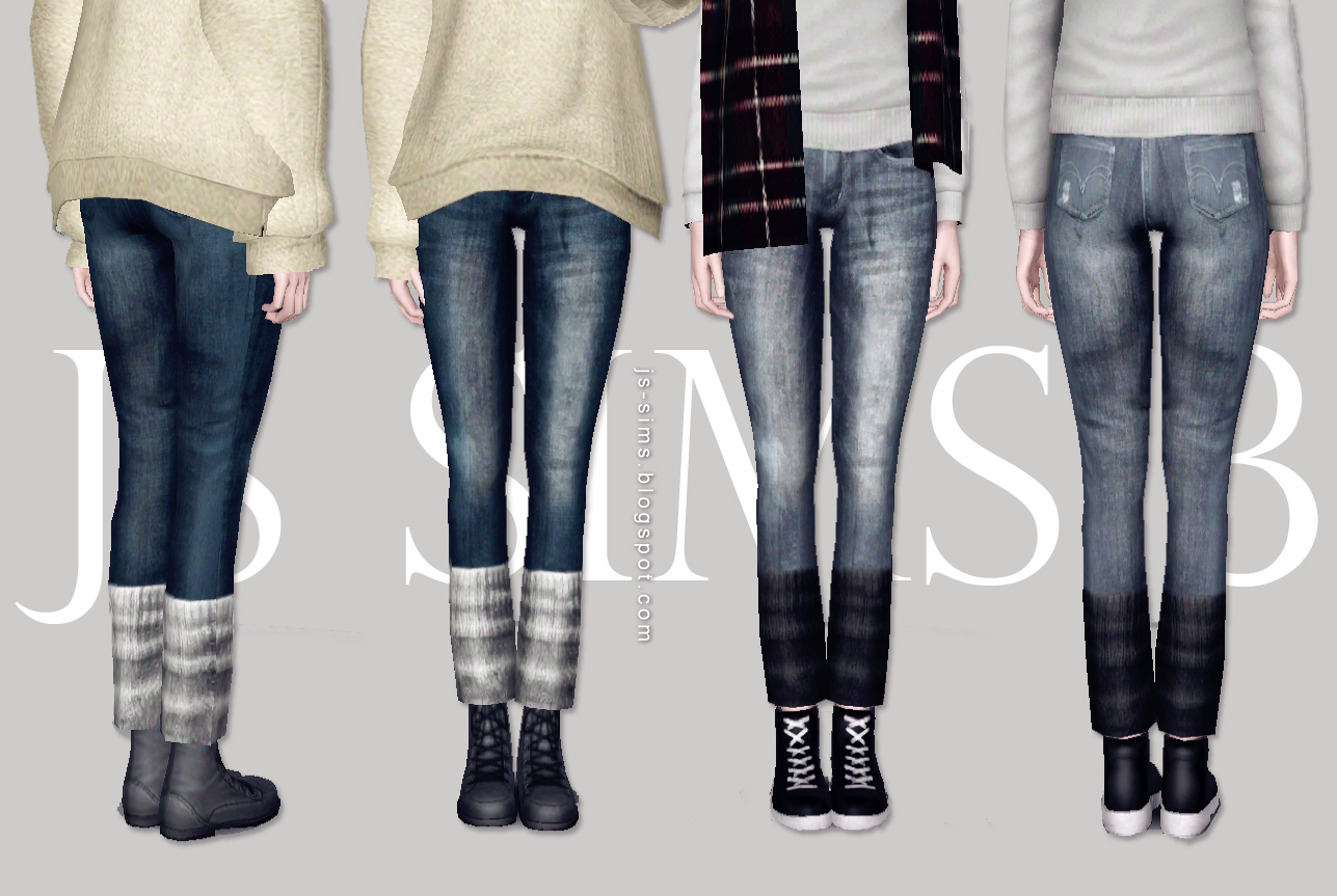 Denim Jeans With Warm Socks by JS SIMS