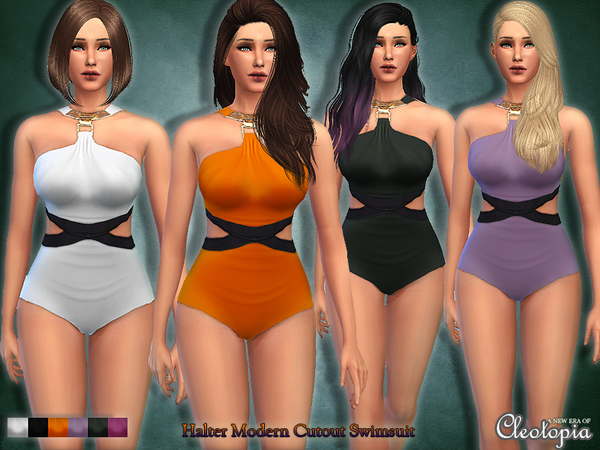 Set21- Halter Modern Cutout Swimsuit by Cleotopia
